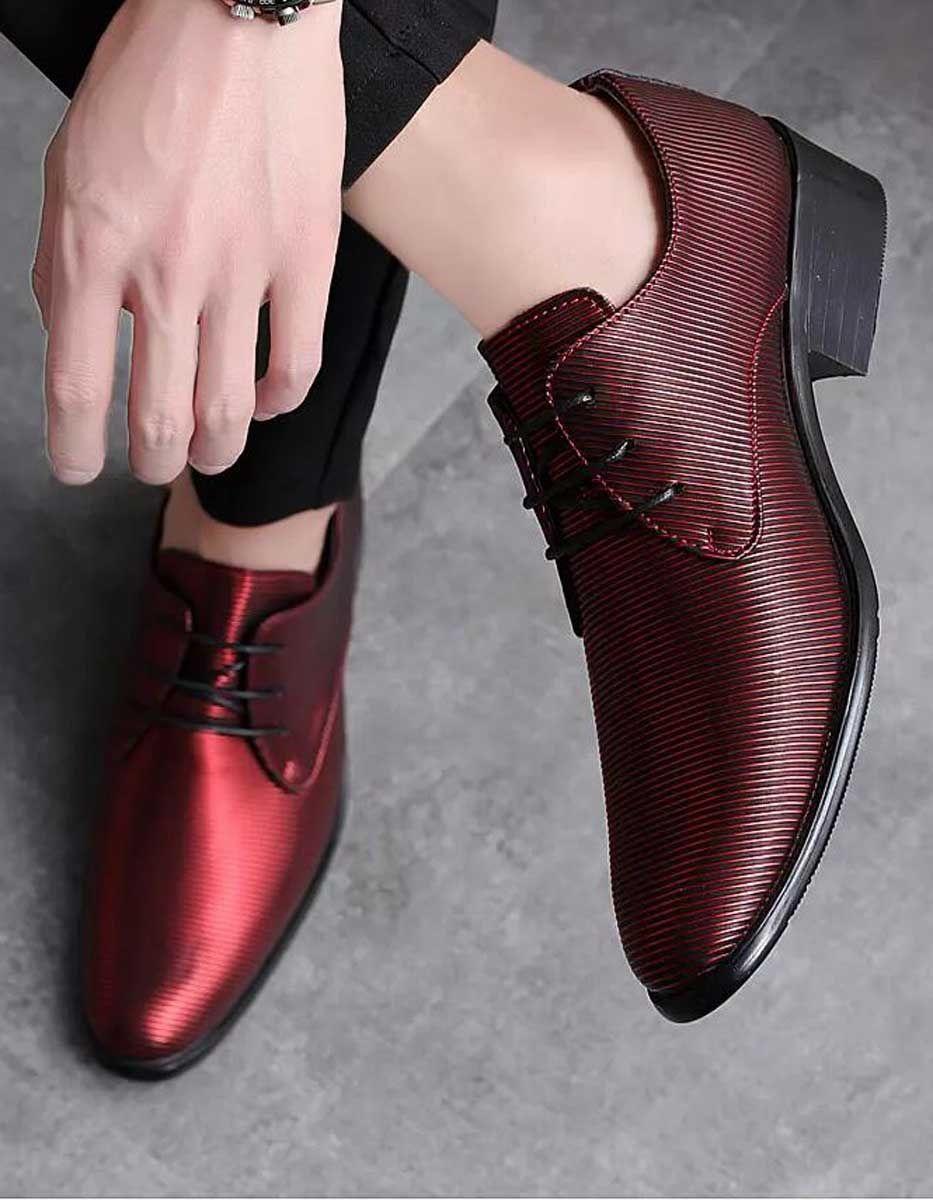 کفش رسمی مردانه قرمز رنگ