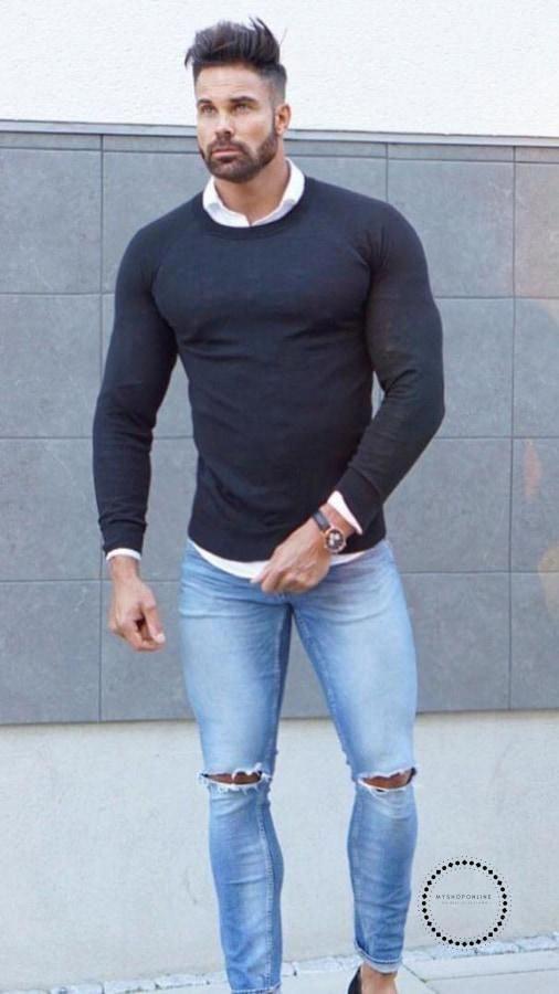 شلوار جین مردانه بدن ورزیده نوین روز