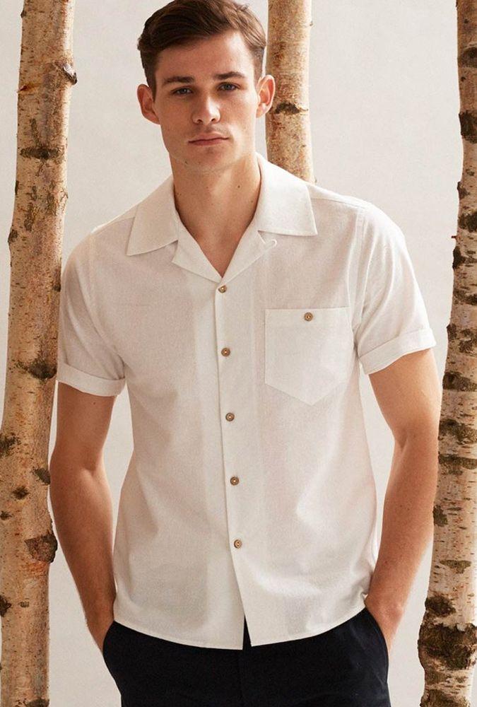 پیراهن آستین کوتاه سفید نوین روز