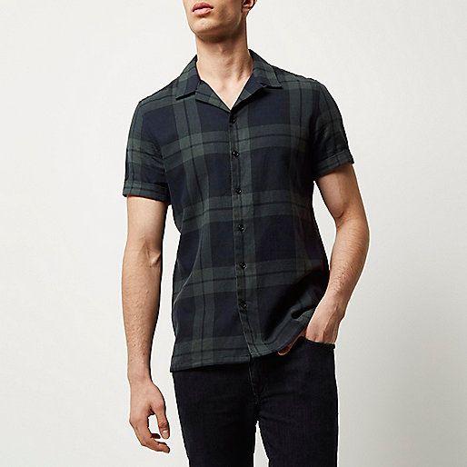 پیراهن آستین کوتاه مردانه مشکی اسپرت نوین روز