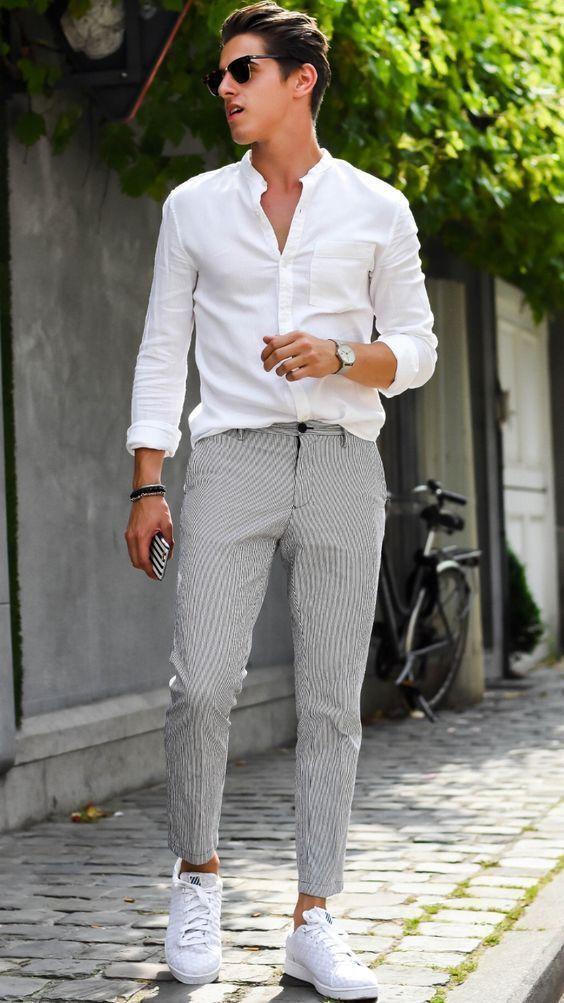 پیراهن مردانه سفید نوین روز